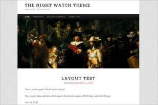 The Night Watch Free Wordpress Theme