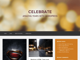 Celebrate – Free Responsive Masonry WordPress Theme
