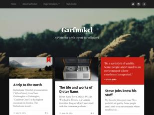 garfunkel free pinterest style wordpress theme