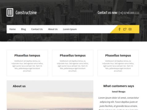 constructzine lite free wordpress theme